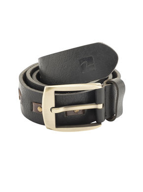 Spykar Leather Belt, m,  black