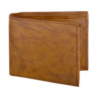 Laurels Genuine Leather Tan Color Semi Formal Mens Wallet (LWT-ROG-06)