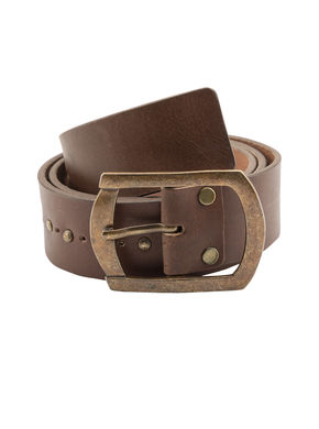 Spykar Leather Belt, xl,  brown
