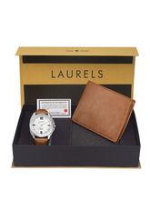 Laurels Men's Combo Pack Of Watch & Wallet (Cp-Dip-301-Asp-06), free size