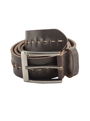 Spykar Leather Belt, m,  dark brown