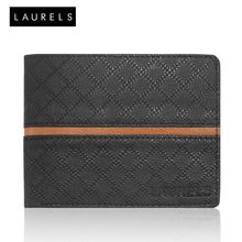 Laurels Cross II Men's Wallet (LW-CRS-II-0206), black and beige