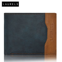 Laurels Tusk Men's Wallet (LW-TSK-0306), blue and tan