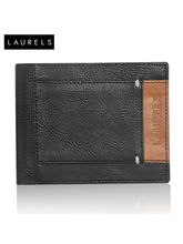 Laurels Fury Men's Wallet (LW-FRY-0206), Black And...
