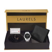 Laurels Men's Combo Pack Of Watch, Wallet & Belt (Cp-Polo-102-Asp-02-Vt-0209), free size