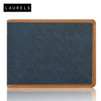 Laurels Dexter Men's Wallet (LW-DXTR-0306), blue and tan