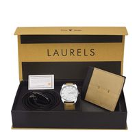 Laurels Men's Combo Pack Of Watch, Wallet & Belt (Cp-Inc-201-Blk-0602-Vt-0209), free size