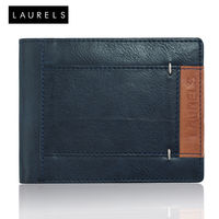 Laurels Fury Men's Wallet (LW-FRY-0306), blue and beige