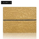 Laurels Titan Men's Wallet (LW-TT-0602), tan and black