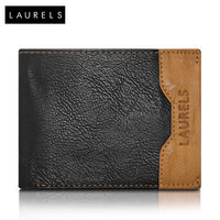 Laurels Tusk Men's Wallet (LW-TSK-0206), black and tan