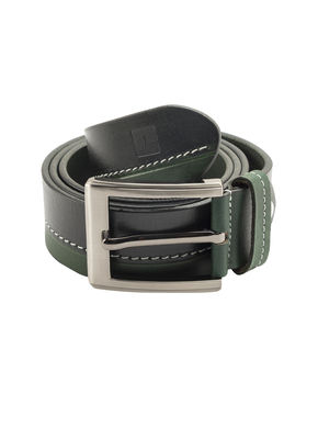 Spykar Leather Belt, l,  green