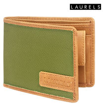 Laurels Colors Men's Wallet (Lw-Clr-0401), green and tan