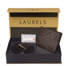 Laurels Men's Combo Pack Of Wallet & Belt (Cp-Hrnt-09-Vt-0209), free size