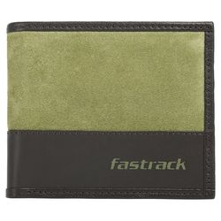 Fastrack Green Genuine Leather Wallet For Men (C0402LGR01)