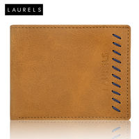 Laurels Signature II Men's Wallet (LW-SGN-II-0603), tan and blue