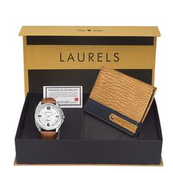 Laurels Men s Combo Pack Of Watch & Wallet (Cp-Dip-301-Rgr-0603), free size