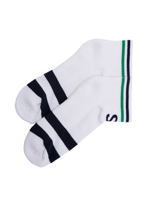 Ankle Length Socks (Set Of 2), 22 cm,  navy/white