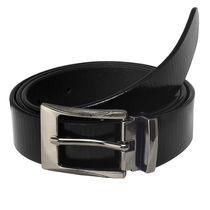 Laurels Dukeg Enuine Leather Men's Belt (LB-DKE-02), black