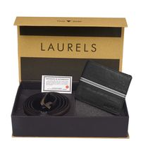 Laurels Men's Combo Pack Of Wallet & Belt (Cp-Rvn-0202-Vt-0209), free size