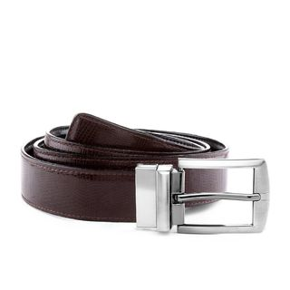 Laurels Reversible Men's Belt (LB-VT-0209), brown and black