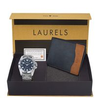 Laurels Men's Combo Pack Of Watch & Wallet (Cp-Polo-504-Tsk-0306), free size