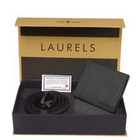 Laurels Men's Combo Pack Of Wallet & Belt (Cp-Urb-02-Vt-0209), free size