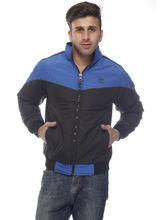 DS Polyester Regular Fit Jacket for Men (LU-JACK-57), 46, blue and black