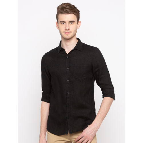Spykar Regular Collar Solids Slim Fit Shirts