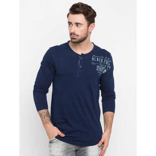 Spykar Dyed Slim Fit T-Shirts