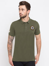 Spykar Solid Slim Fit T-Shirts, xl, olive
