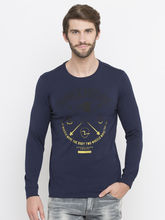 Spykar Solid Slim Fit T-Shirts, l, navy