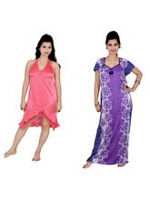 Kismat Fashion Combo Of Two Nighty (Kn12-20), multicolor