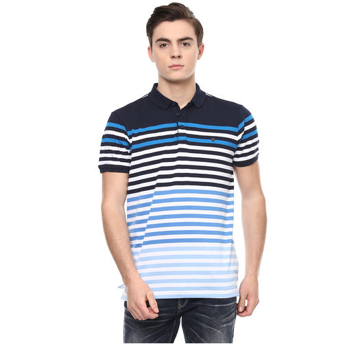 Striped Polo Slim Fit T-Shirt