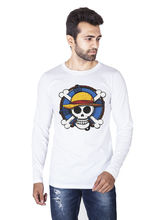 Veirdo Round Neck Full Sleeve T-Shirt (TSH_ 02_ PIRATE), l, white
