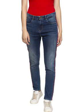 Spykar High Rise Super Skinny Ankle Length Jeans,  mid blue, 30