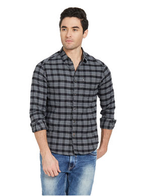 Checks Shirt In Slim Fit, 2xl,  black