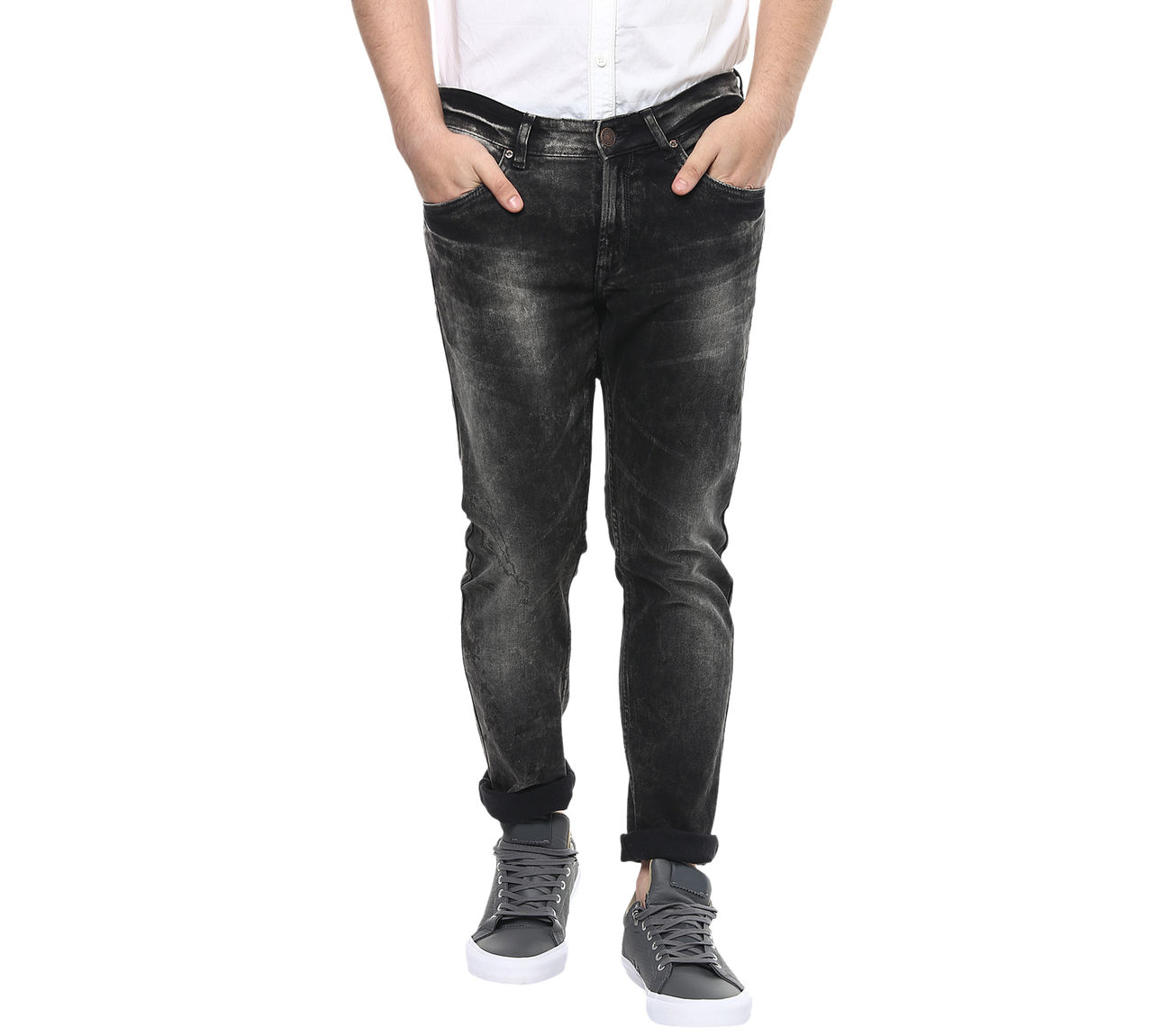 2019 year style- Rise low ultra jeans men photo