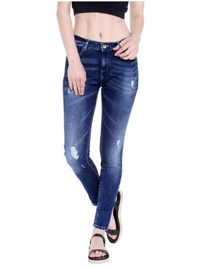Mid Rise Skinny Fit Jeans, 28,  blue