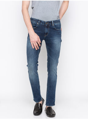 Spykar Low Rise Ultra Slim Thigh Narrow Leg Jeans,  vintage, 34