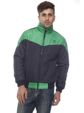DS Polyester Regular Fit Jacket for Men (LU-JACK-55), green and black, 44