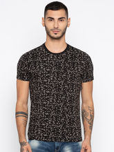 Spykar Printed Slim Fit T-Shirts, black, m