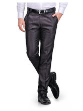 Harvest Wine Poly-Viscose Trouser For Men, 34