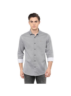 Printed Regular Shirt, s,  black