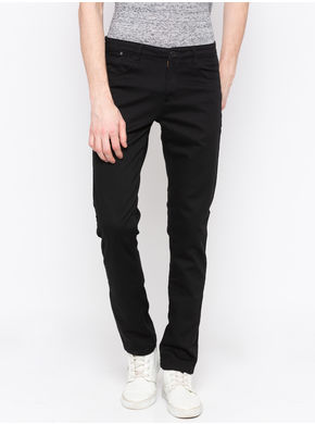 Spykar Black Solid Trouser, 34,  black