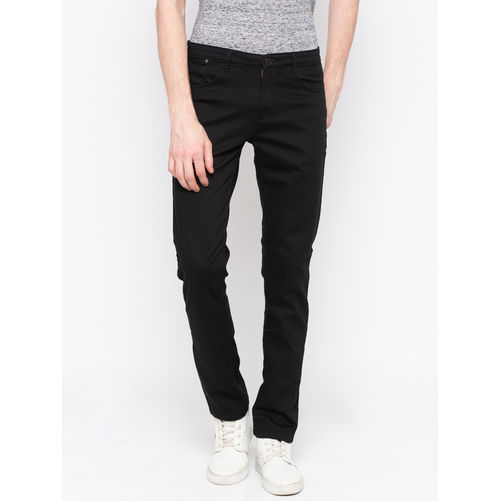 Spykar Black Solid Trouser