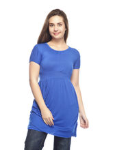 And You Blue Cotton Fashionable Dress for Women, m