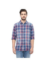 Checks Regular Shirt, l, red blue