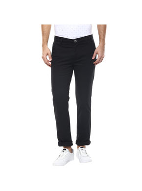 Solid Flat Front Chinos,  black, 30