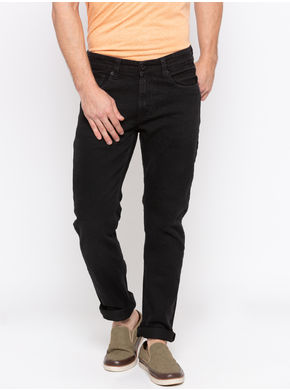 Spykar Low Rise Slim Thigh Narrow Leg Jeans,  carbon black, 34