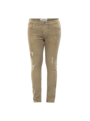 Low Rise Tight Fit Jeans, 38,  beige